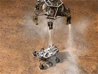 Curiosity Ill Being Lowered By SkyCrane